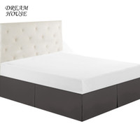 Wholesale bedding for queen size beds online - Queen Size Bed Skirt Wedding Elastic Bed Covers without Surface Skirt for Home Hotel Bedspread Bedroom Bedsheet Colors