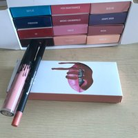 Wholesale Full Liner - Makeup Lip Gloss LIP KIT Matte Liquid Lipstick & Lip Liner Kit 42 Colors available Promotion Price