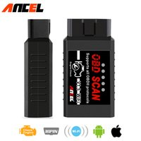 Wholesale iphone obd elm327 for sale - Group buy obd2 elm327 obd Ancel elm wifi scanner wi fi for iphone android ios Auto Wireless Code reader diagnostic tool adaptor