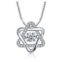 Wholesale Star of David Chain Fashion Genuine Sterling Silver Simple Pendant Necklace for Women Sterling Silver Jewelry