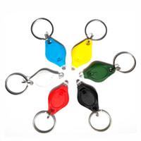 led-glühbirne schlüsselanhänger großhandel-Mini-Taschenlampe Schlüsselanhänger Ring PK Schlüsselanhänger Weiße LED-Leuchten UV-Licht LED-Lampen Mikro-Licht LED-Schlüsselanhänger Taschenlampe