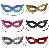 Wholesale dress up face for sale - Sequin Halloween Face Mask Cosplay Masquerade Sexy Woman Cat Eye Glasses Mask Fancy Dress Up Party Christmas XMAS Mask AAA806