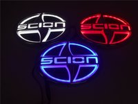 Wholesale led light car modified - Car Styling 5D Auto Badge Lamp Special modified car scion logo with LED light Emblem for Scion 12.5CM*8.5CM RED BLUE WHITE