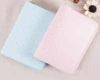 Wholesale Girls Journal - Sweet Light Pink Blue Color Girls Dreaming Journal Book Zipper Bag Fashion A6 Diary DIY Planner 15*19cm Free Shipping
