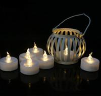 lampe frontale alimentée par batterie achat en gros de-LED bougie électronique sans flamme tête de lampe flamme scintillement bougies lumière réaliste bougie à piles pour Noël Saint Valentin