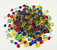 Wholesale Pink Gravel - Colorful glass crystal gravel red, yellow, green, blue and white colored glaze for the special seven gems
