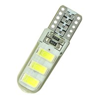 Wholesale 12v car auto interior for sale - 2Pc T10 W5W LED car interior light LED lamp V bulb wedge parking dome light white auto Turn Side lamps V