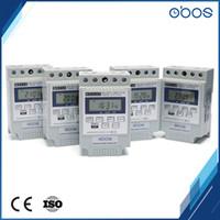 dc mal großhandel-OBOS Marke gehobene 12V / 24V DC programmierbare elektronische Zeitschaltuhr DIN-Timer mit 10 mal Ein / Aus pro Tag Zeit eingestellt Bereich1min-168H