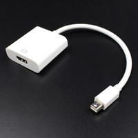 adaptador de proyector mini hdmi al por mayor-Mini DP a HDMI Cable macho a hembra Thunderbolt Mini Display Adaptador de convertidor a HDMI para MacBook Pro Air iMac 1080p proyector