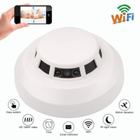 Wholesale motion activated hd camera for sale - Group buy Full HD p Smoke Detector Camera Night Vision Wifi Nanny Cam Motion Activated Wide Angle Security IP Network DV Cam PQ241