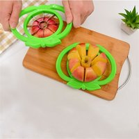 Wholesale pear corer slicer for sale - Group buy Thickening Abs Slicer Stainless Steel Knife Apple Pear Easy Slicers Corers Kitchen Gadget Green Red Vegetable Tools Durable yc jj