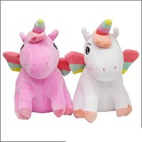 Wholesale unicorn dolls for kids for sale - 20cm Sitting Space Cotton Unicorn Cartoon Cute Perimeter Of Animation Model Stuffed Pony Teddy Dolls For Kids Hot Sale rb Ww