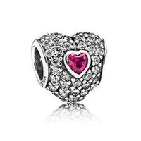 кастрюли в форме сердца оптовых-WinTion PAN 100% S925 sterling silver new bracelet , glamour original purple heart-shaped zircon necklace pendant