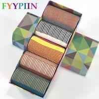 Wholesale fine knitting - Casual Promotion Calcetines Hombre Socks Men 2018 Standard Men 'S Latest Clothes Socks Fashion Fine Stripes Male Cotton No Box