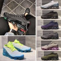 Wholesale R Shoes - blue purple yellow Vapormax Trainers Breathe Running Shoes For Mens Womens Athletic R 2 black vapormaxs Knit Runner cs Sneakers Sports Shoes