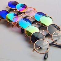 lunettes jouets rondes achat en gros de-Poupée Cool Lunettes Pet Lunettes Rondes Lunettes De Soleil Colorées Pour BJD Blyth Américain Grils Jouet Photo Props-M35