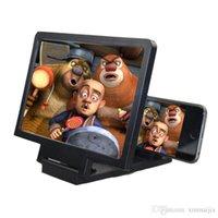 ingrosso magnifier dello schermo del telefono mobile 3d-Schermo LCD portatile Schermo telefono mobile Schermo ingranditore 3D Ingrandisci Amplificatore HD Pieghevole per la lettura di film TV