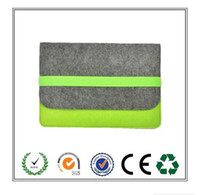 Discount selling macbook - Top Selling Products Grey and Green Felt Laptop Case with Elastic band Convenient, practical and durable