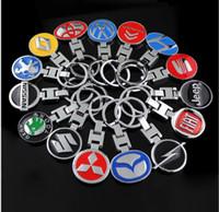 Wholesale circles car online - Auto Car Logo Metal Keychain D Keyring Key Holder Pendant Keyfob for All Models