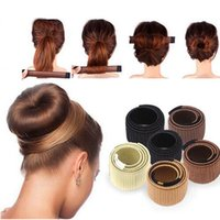 Wholesale head band wigs online - Hair Accessories Synthetic Wig Donuts Bud Head Band Ball French Twist Magic DIY Tool Bun Maker Sweet French Dish Made Hair Band