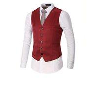 Wholesale Wholesale Men S Waistcoats - Men Vest Suit Waistcoat One Piece 2018