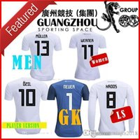 Wholesale Germany Red - 2018 world cup GERMANY Player version Soccer JerseyS women Long sleeve WERNER 11 OZIL KROOS DRAXLER HOME WHITE HUMMELS GOALKEEPER JERSEY