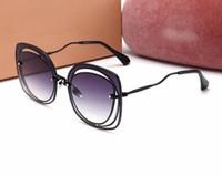 oval plates venda venda por atacado-Hot sale new men mulheres marca óculos de sol 58 P moda oval óculos de sol revestimento lente do espelho oco armação de metal cor banhado a quadro UV400 6 cor