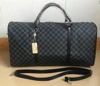 Wholesale duffle style handbags - hot 2019 NEW fashion men women travel bag duffle bag, brand designer luggage handbags large capacity sport bag