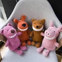 забавные чучела животных оптовых-Улыбаясь зубастый большие зубы плюшевые игрушки смешные мягкие игрушки куклы мягкие игрушки Игрушки Каваи дети подарок 30 см