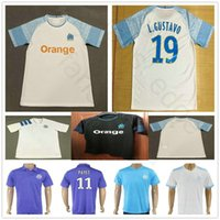 Wholesale Blue Year - 18 19 New Maillot de foot om old Marseille 1992 1993 25 year Olympique Soccer Football Jerseys PAYET CLINTON CABELLA L.GUSTAVO THAUVIN