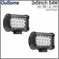 "Wholesale waterproof led lights for atv - 10-30V DC 4x4 truck car ATV UTV 2 pack 5"" 54W spot beam led work light for JEEP boat tractor waterproof"