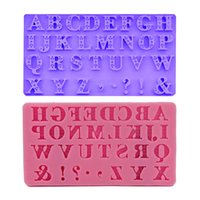 Wholesale silicone decorating moulds for sale - Group buy DIY Mold Sugar Tool English Capital D Letter Liquid State Silicone Baking Mould Cake Decorate Pink Purple Non Toxic yq V