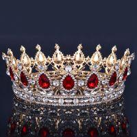 ingrosso accessori per la corona dei capelli-Corona nuziale di lusso con strass Cristalli Royal Crown Crowns Princess Crystal Accessori per capelli Birthday Party Diademi Quinceaner Sweet 16