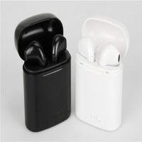 çalışan bluetooth kulaklık toptan satış-1 adet I7 I8 TWS Twins Bluetooth Kulaklık Mini Kablosuz Kulaklık Kulaklık Mic ile Stereo V4.2 Kulaklık için Iphone samsung Spor koşu