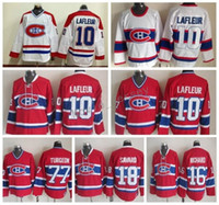 Wholesale Guys Nylon - Men Montreal Canadiens 16 Henri Richard Jersey Throwback 18 Serge Savard 77 Pierre Turgeon 10 Guy Lafleur Vintage Classic Hockey Jerseys