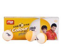 Wholesale dhs tennis balls - DHS Table tennis balls D40+ BI Colour Seamed ABS new material Plastic PolyPong Balls