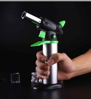 Wholesale heavy torch resale online - Stainless steel C Butane Scorch Torch Jet Flame torch Lighter Kitchen Refillable Torch Lighter Giant Heavy Duty ButaneMicro Culinary