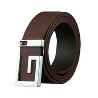 Wholesale mens adjustable belts - Fashion Mens Leather Smooth Girdle Buckle Waistband Waistband Leisure Belt Strap100-135CM Adjustable 5 Color