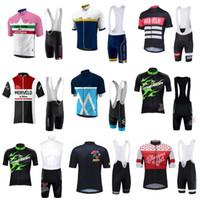Wholesale merida green cycling jersey - 2018 Morvelo MERIDA Men Cycling Jersey Summer Team Bike Clothing Ropa Maillot Ciclismo Bicycle Bib Shorts Set D403