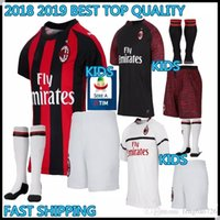 0d174cc2aed Discount blue home soccer kit - kids kit 2018 2019 Milan home Soccer Jersey  18 19