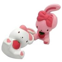 desenhos animados de coelho rosa venda por atacado-Nova Squishy Simulação Coelho Boneca Animal Dos Desenhos Animados Squishies Lento Rebound Descompressão Brinquedos Presente Das Crianças Rosa Branco 9 5mn CR
