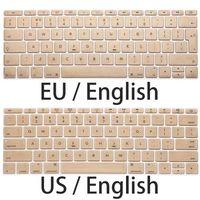 teclado macbook à prova d'água venda por atacado-UE eua capa para macbook retina 12 a1534 tampa do teclado de silicone macio e macio à prova d 'água para macbook 12' 'teclado