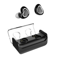 Wholesale mp3 built headset for sale - Group buy Bluetooth Headphones Dual Wireless Earbuds True Mini Twins Stereo Bluetooth Headset V4 Earphones with Built in Mic Premium Sound with Bas