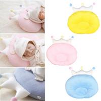almohada vieja al por mayor-Bebé Corona Almohada Cabeza Shaping Pillow Recién nacido Preciosa Corona Forma Protección del cuello Ropa de cama para 0-1 años de edad
