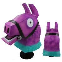 Wholesale japanese masks halloween for sale - Game Fortnite Llama Mask Rainbow Donkey Latex Headgear Game Fortnight Cosplay Party Full Head headgear Drift Masks Hallowmas Costume