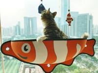Wholesale Beds For Cats - Fish Shape Cat Nest Hanging Hammock Seat Window Bed Perch Shelf Pet Nest For Kitten DDA384