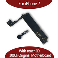 Wholesale apple board - For iPhone 7 32GB 128GB Motherboard with Touch ID & Fingerprint,Original Unlocked Logic board Free Shipping