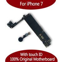 elma mantığı toptan satış-IPhone 7 için 32 GB 128 GB Anakart ile Dokunmatik KIMLIK Parmak Izi, Orijinal Unlocked Mantık kurulu Ücretsiz Kargo