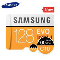 32gb micro s toptan satış-Samsung Orijinal 128 GB Mikro SD Kart Yüksek Hızlı EVO 4 K Ultra HD 8 GB 32 GB 100 MB / S MB-MP128G TF Kart Ücretsiz Kargo