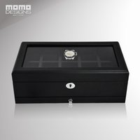 window dressings Canada - Luxury wood watch packing box with top window 10 Watches storage box Wooden Watch packaging display High quality case